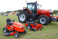 Farm and lawn tractors topping va september massey ferguson on display at the th annual wings wheels keels event at hummel air Stock Photography