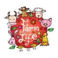 Farm life animals. Royalty Free Stock Photo