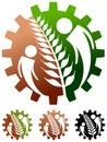 Farm logo isolated illustrated design Royalty Free Stock Photography