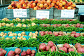 Farm market fruits and vegetables Royalty Free Stock Image
