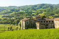 Farm near parma italy emilia romagna in the valley landscape at summer Royalty Free Stock Photo