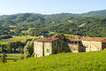 Farm near parma italy emilia romagna in the valley landscape at summer Royalty Free Stock Photography