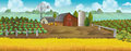 Farm. Panorama landscape