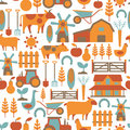 Farm pattern seamless with related items Stock Photo