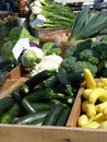 Farm stall at the market Royalty Free Stock Photo