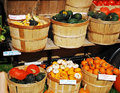 Farm stand a wonderful new enfland in the fall selling pumpkins squash etc Stock Image