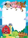 Farm theme frame eps vector illustration Royalty Free Stock Photography
