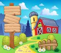 Farm theme image eps vector illustration Royalty Free Stock Photo