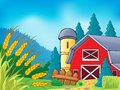 Farm theme image eps vector illustration Stock Image