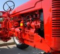 Farm tractor engine Stock Photo
