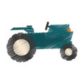 Farm tractor icon Royalty Free Stock Photo