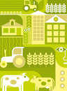 Farm - vector illustration Royalty Free Stock Photos