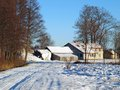 Farm in winter 2 Royalty Free Stock Images