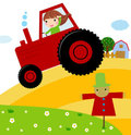 Farmer kid Royalty Free Stock Photos