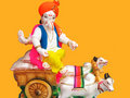 Farmer Lord Ganesha Stock Image