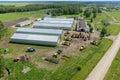 Farmer machine yard in Verhovina. Russia