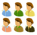 Farmer man icons Royalty Free Stock Images