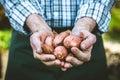 Farmer with onions