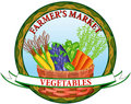 Farmer's vegetable market Stock Image
