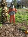 Farmer scarecrow Royalty Free Stock Photo