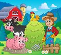 Farmer theme image eps vector illustration Royalty Free Stock Photos