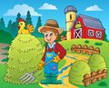 Farmer theme image eps vector illustration Stock Photo