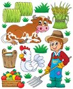 Farmer theme set eps vector illustration Royalty Free Stock Photography