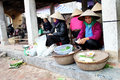 Farmer woman selling rice cakes hai duong vietnam april in gold market on april in thanh ha hai duong vietnam this is the oldest Royalty Free Stock Image