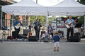 Farmers market band Royalty Free Stock Photography