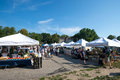 Farmers market at east lansing michigan Royalty Free Stock Photo