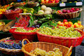 Farmers Market fresh fruits and vegetables Stock Image