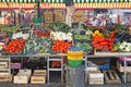 Farmers market fresh and organic vegetables at Royalty Free Stock Photo