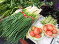 Farmers market fresh and organic vegetables at Stock Image
