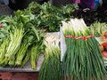Farmers market fresh and organic vegetables at Stock Photography