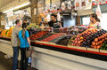 Farmers Market fruit stand Royalty Free Stock Photo