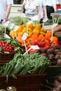 Farmers market, fruit and vegetables, cooking ingredients Royalty Free Stock Photo