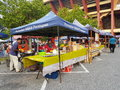 Farmers market at paroi jaya seremban negeri sembilan at malaysia a also is a physical retail featuring foods sold directly by to Stock Photography