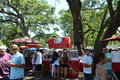 Farmers market people in orlando s eola park downtown Royalty Free Stock Photos