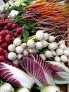 Farmers Market vegetables: radicchio and turnips Royalty Free Stock Image