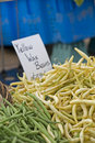 Farmers Market wax beans Stock Photography