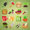 Farmers tools icons set in the eps file each element is grouped separately clipping paths included in additional jpg format Royalty Free Stock Photos