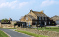 Farmhouse in the countryside scenic view of a english near to whitby town Royalty Free Stock Images