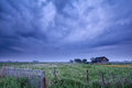 Farmhouse in dusk Royalty Free Stock Photo