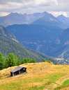 Farmhouse in mountains Royalty Free Stock Photo