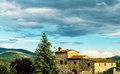 Farmhouse in tuscany a typical italy Stock Photography