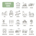 Farming icons. Set of vector pictogram