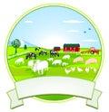 Farming Vignette Royalty Free Stock Photo