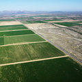 Farmland aerial. Stock Photos
