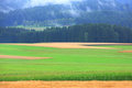 The farmland in the austria Royalty Free Stock Image