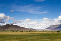 Farmland the beautiful view of tibet china Royalty Free Stock Photo